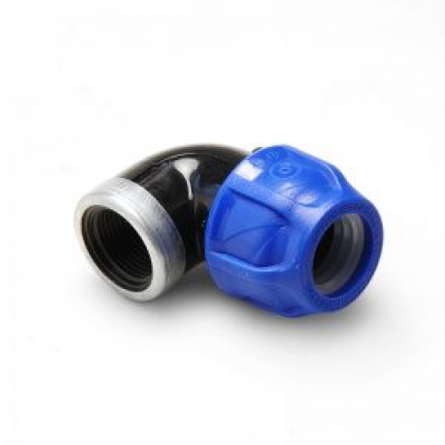 Отвод с внутренней резьбой усиленный оцинк. кольцом 32x3/4