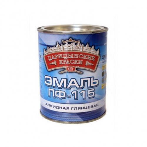 """Эмаль ПФ-115 Черная 0,8 кг """"Царицынские краски"""""""