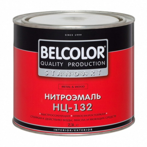 Эмаль НЦ-132 черный 1,7кг/6/Белколор