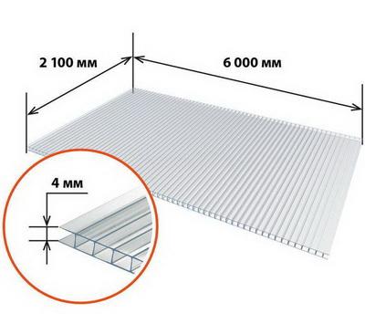 Поликарбонат 4мм Multigreen 2,1*6м